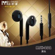 MSH 202 Original Handsfree / Headset / Earphone (Black) For All Type Phone