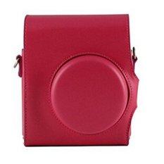 Mulba PU Leather Camera Case Bag For Instax Mini 8 Rose Red C563