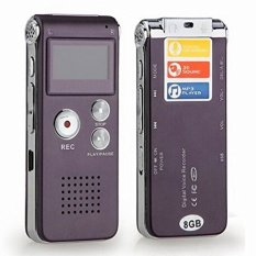 Multifunctional Rechargeable 4GB 650HR Digital Audio Voice Recorder Dictaphone MP3 Player (Coffee)