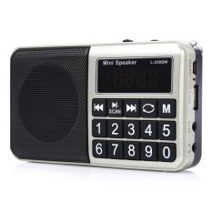 Multifunctional TF Card USB Music Speaker Portable FM / MW / SW Radio Player (Silver) - Intl