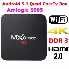 MXQ Pro TV Box 4K Amlogic S90.1G 8G Full HD 1080P Android Media Player 5.1 1GB / 8GB Wifi Kodi 16.0 Fully Loaded HD 4K Smart TV Box Media Player - Intl