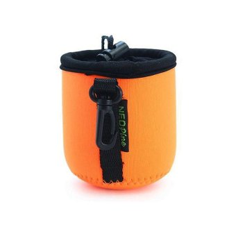 NEOPine Elastic Neoprene Lens Pouch Storage Protective Barrel CaseBag For Sony QX100 Lens (Orange)