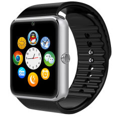 New 1.54 inci GT08 layar sentuh Bluetooth Ponsel Jam Tangan Pintar Untuk Android IOS (Perak)