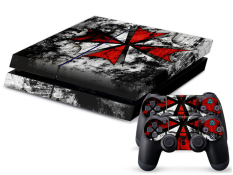 New Biohazard Sticker Skin Decal For Sony PS4 Console Controller Xmas Dustproof