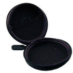 New Pocket Hard Case Storage Bag For Earphone Headphone Earbuds (Black)