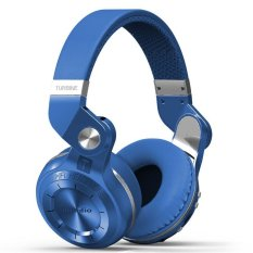 Newest Bluedio T2 Multifunction Stereo Bluetooth Headset Noise Canceling Headphone Wireless Headphones (Blue)