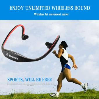 Next Sport S9 Headset Bluetooth 4.0 Behind-the-Neck USB Sports Stereo Wireless Headphone - Red