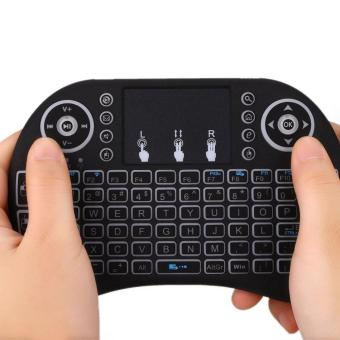 niceEshop I8 Mini 2,4 gHz Wireless Touchpad Keyboard dengan Mouse untuk Pc, bantalan, Xbox 360. Ps3. Google Android Tv Box, Htpc, Iptv (hitam) - International