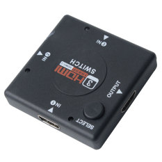 NiceEshop Noir 3 En 1 Out HDMI Video Audio Switch Switcher Selector Hub Box