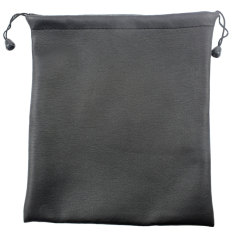 NiceEshop PU Leather Drawstring Bag Wrist Wallet For Small Electronics And Accessories, Black (Intl)