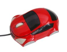NiceEshop Red Car Shaped USB Wired Optical Mouse For Notebook Laptop PC