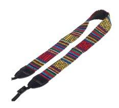 NiceEshop Striped Webbing Universal Camera Single Shoulder Sling Belt Strap For SLR DSLR Camera Multi Color