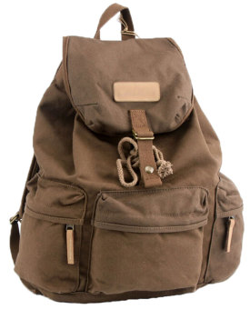 NiceEshop Waterproof Canvas Camera Lens Flash Bag Backpack For DSLR Camera (Brown)