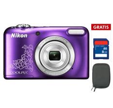 Nikon Coolpix L29 - 16.1 MP - 5x Optical Zoom - Ungu + Memory 8GB + Case