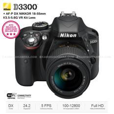 NIKON D3300 (BLACK) + AF-P DX NIKKOR 18-55mm f/3.5-5.6G VR Kit Lens 24.2 MP Full HD