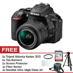 Nikon D5500 Kit AF-S 18-55mm VR II + Anti Gores + Filter + Tas + Attanta Kaiser 203 + Sandisk 16 GB Class 10 ...