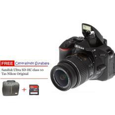 Nikon D5500 VR II 1855mm - 24MP - Hitam