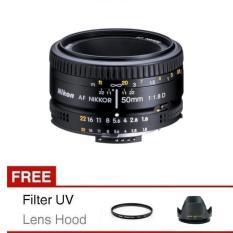 Nikon Lensa AF 50mm f/1.8D + Gratis Filter dan Lens Hood