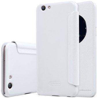 Nillkin Case kulit berkilau seri Flip Super tipis penutup untuk ASUS Zenfone 2 Laser ZE550KL.