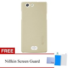 Nillkin For Oppo Neo 5 Super Frosted Shield Hard Case Original - Emas + Gratis Anti
