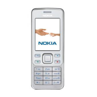 18% Nokia 6300 Handphone - Silver Putih [Refurbished Grade A]