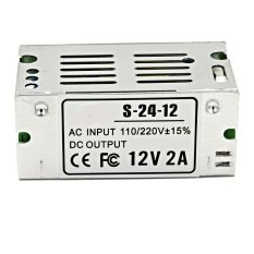 Oanda 12.2A 24W LED Universal Regulated Mini Switching Power Supply (Silver)