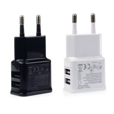 OH 2A Dual 2Ports USB EU Wall Charger Adapter For Samsung IPhone HTC MOTO