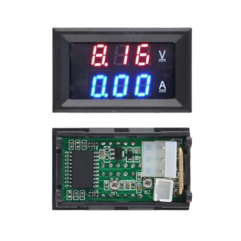 OH DC 100.10A Voltmeter Ammeter Blue + Red LED Amp Dual Digital Volt Meter Gauge