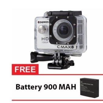 Onix COGNOS Action Camera 1080p CYGNUS - 12MP - PUTIH + Gratis Battery 900 Mah