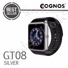 Onix Cognos - Jam Tangan Pria - Silver - Strap Rubber - Smartwatch GT08