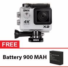 Onix Cognos Action Camera 1080p DV603C WIFI - 12MP - Putih + Gratis Battery 900 Mah