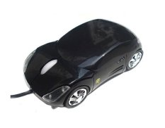 Ooplm Black Car Shaped USB Wired Optical Mouse For Notebook Laptop PC