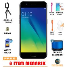 OPPO A57 [3/32GB] 4G - Black Free 8 Item Menarik