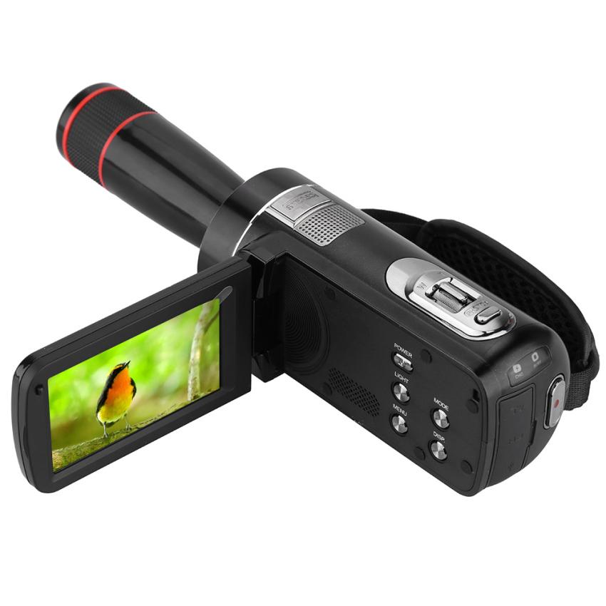 ORDRO HDV-Z8 1080P Full HD Digital Video Camera Camcorder 16× Digital Zoom Digital Rotation LCD Touch Screen Max. 24 Mega Pixels