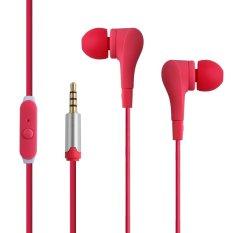 Original 3.5mm Earphones Headphones For IPhone 5 5.4 6 Plus Samsung Xiaomi MP3 MP4 MP5 (Pink) (Intl)