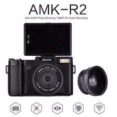 Original AMKOV CDR2 Digital Camera Video Camcorder 800W Pixel 3 inch TFT Screen with UV Filter 0.45X Super Wide Angle Lens - intl