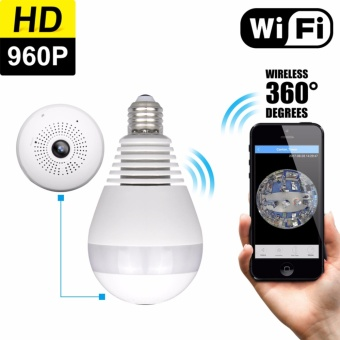 Original Owlview Wireless Light Bulb IP Camera Wi-fi FishEye 960P 360 degree Mini CCTV VR Camera, LED Bulb Indoor/Outdoor Lighting Lamp Home Security Monitor Spy System White - intl