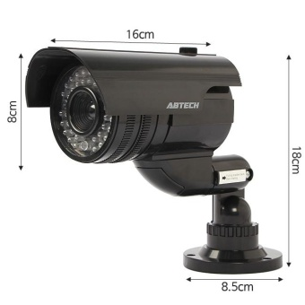 Outdoor cctv camera IP Camera Surveillance Security Camera DummyNight CAM LED Light with Warning sign safe - intl