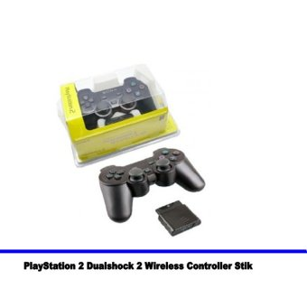 Paket Hemat : 2pcs Stik Wireless Ps2 / Sony PlayStation 2 Dualshock 2 Wireless Controller Stik