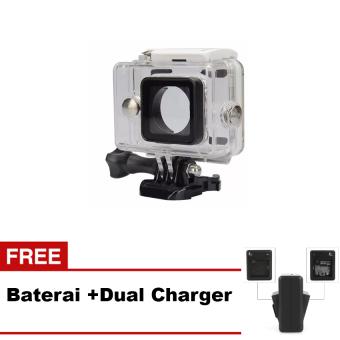 Paket Kingma Water Proof Case For Xiaomi Yi + Baterai + Dual Charger