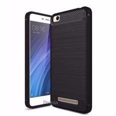 Peonia Premium Carbon Shockproof Hybrid Case for Xiaomi Redmi 4A - Hitam