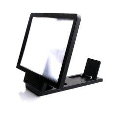 Perlindungan Radiasi 3D ponsel video HD layar melindungi mata kaca pembesar lipat pemegang untuk penguat dengan