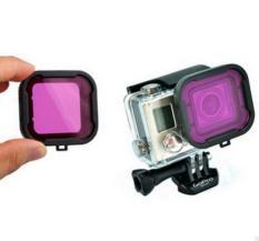 Polar Pro Aqua Cube Underwater Diving Filter Color-Correction Filter For GoPro 3 + / 4 (Purple)