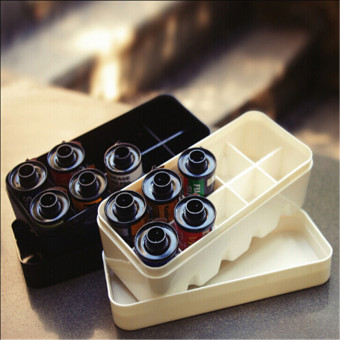 Portable Film Case Storage Box With Lid For 10 Roll 135 Hard Plastic White - Intl