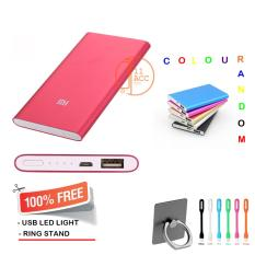 Power Bank Slim 128000 mAh + Free Usb LED LIght + Ring Stand