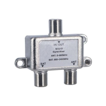 Practical 2 In 1 Dual-use 2 Way Port TV Signal Satellite SatCoaxial Diplexer Combiner Splitter Combiners Cable Switch Switcher- intl