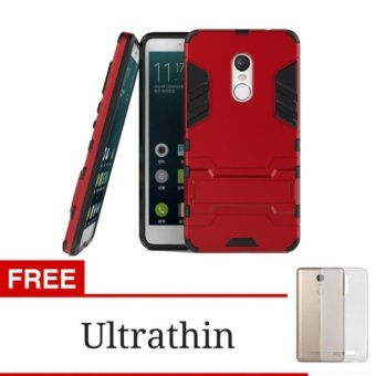 ProCase Kickstand Hybrid Armor Iron Man PC+TPU Back Cover Case forXiaomi Redmi Note 4X - Merah + Gratis Ultrathin