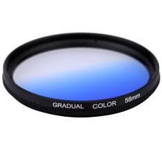 Professional 58mm Camera Lens GND Graduated Blue Filter Graduated Neutral Density Filter