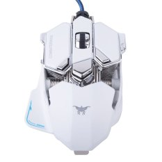 Professional Gaming Mouse, VersionTech CombaterWing White 4800 DPI Optical USB Wired Professional Gaming Mouse Programmable 10 Buttons RGB Breathing LED Light Mice For Computer PC Laptop