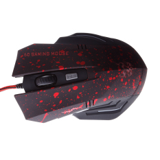 Professional High Quality USB Wired Gaming Mouse Optical Mouse Game Mice For Laptops Desktops Mouse Gamer (Red / Black)